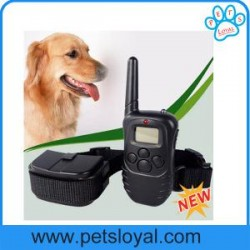 Remote Dog Training Collar 300 Meters LCD Bark Stop Collar China Factory