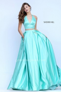 Light Emerald Sherri Hill Prom Dresses 50053 with Beaded Pockets – $198.00 : Prom Dresses  ...