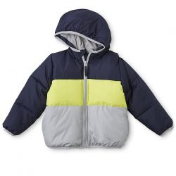 Toughskins Toddler Boys' Hooded Puffer Coat – Striped