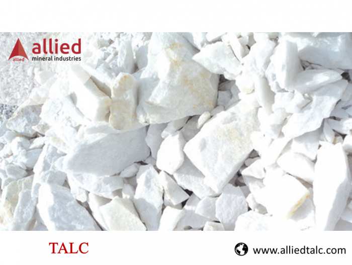 """Talc crushed into a white powder that is widely known as """"talcum powder."""" Talc powde ..."""